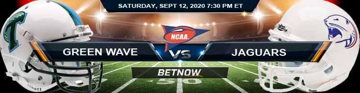 Tulane Green Wave vs South Alabama Jaguars 09-12-2020 NCAAF Tips Forecast & Previews
