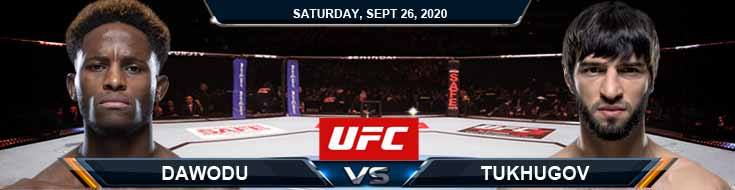 UFC 253 Dawodu vs Tukhugov 09-26-2020 Spread Fight Analysis and Forecast