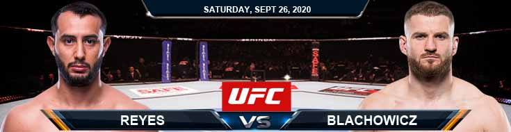 UFC 253 Reyes vs Blachowicz 09-26-2020 Picks Predictions and Previews