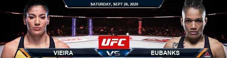 UFC 253 Vieira vs Eubanks 09-26-2020 Previews Spread and Fight Analysis