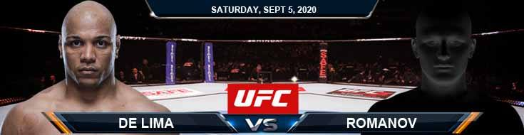UFC Fight Night 176 De Lima vs Romanov 09-05-2020 Fight Analysis Forecast and Tips