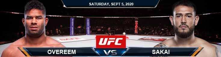 UFC Fight Night 176 Overeem vs Sakai 09-05-2020 Odds Picks and Predictions
