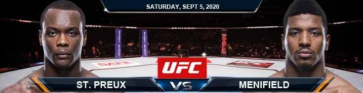 UFC Fight Night 176 St. Preux vs Menifield 09-05-2020 Picks Predictions and Previews