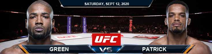 UFC Fight Night 177 Green vs Patrick 09-12-2020 Forecast Tips and Results