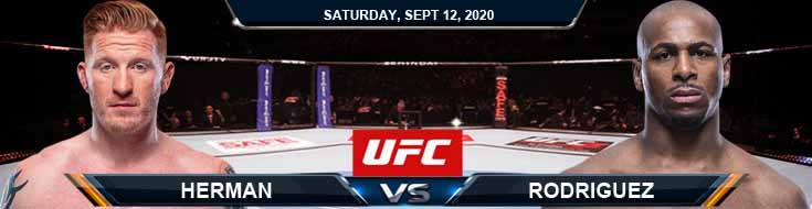 UFC Fight Night 177 Herman vs Rodriguez 09-12-2020 Previews Spread and Fight Analysis
