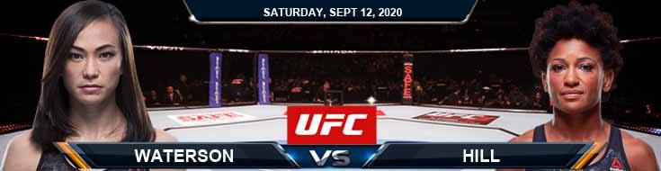 UFC Fight Night 177 Waterson vs Hill 09-12-2020 Odds Picks and Predictions