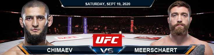 UFC Fight Night 178 Chimaev vs Meerschaert 09-19-2020 Spread Fight Analysis and Forecast