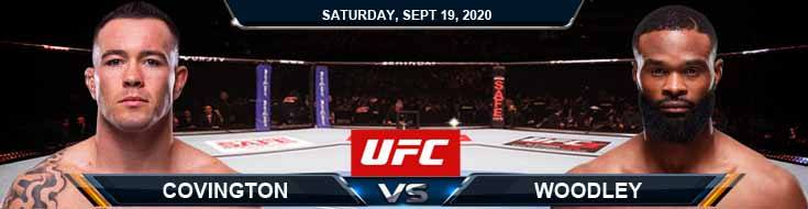 UFC Fight Night 178 Covington vs Woodley 09-19-2020 Odds Picks and Predictions