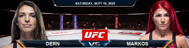 UFC Fight Night 178 Dern vs Markos 09-19-2020 Odds Predictions and Spread