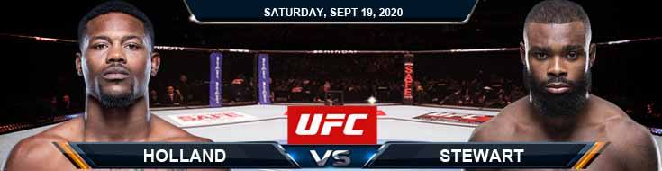 UFC Fight Night 178 Holland vs Stewart 09-19-2020 Forecast Results and Odds