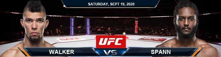 UFC Fight Night 178 Walker vs Spann 09-19-2020 Tips Results and Analysis