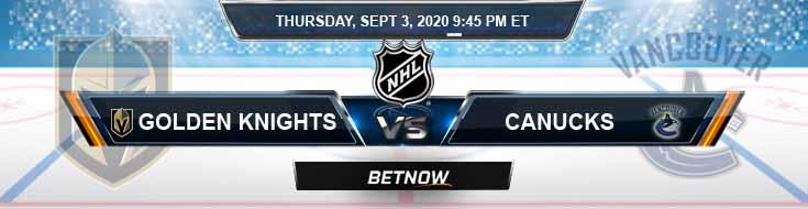 Vancouver Canucks vs Vegas Golden Knights 09-03-2020 NHL Odds Picks & Predictions