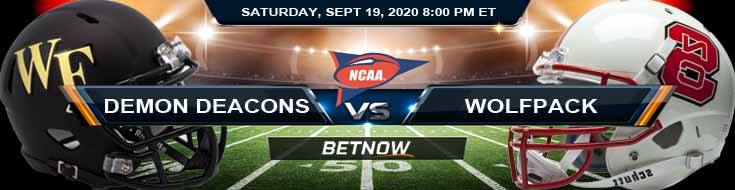 Wake Forest Demon Deacons vs NC State Wolfpack 09-19-2020 NCAAF Analysis Picks & Odds