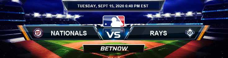 Washington Nationals vs Tampa Bay Rays 09-15-2020 Predictions Previews and Spread