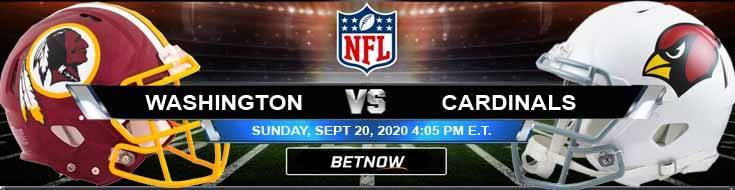 Washington vs Arizona Cardinals 09-20-2020 Odds Picks and Predictions