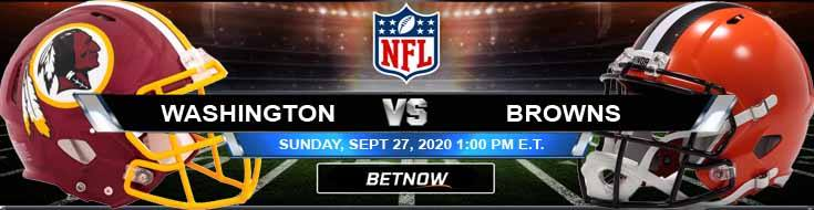 Washington vs Cleveland Browns 09-27-2020 Previews Spread and Game Analysis