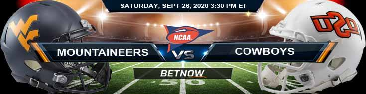 West Virginia Mountaineers vs Oklahoma State Cowboys 09-26-2020 NCAAF Previews Spread & Game Analysis