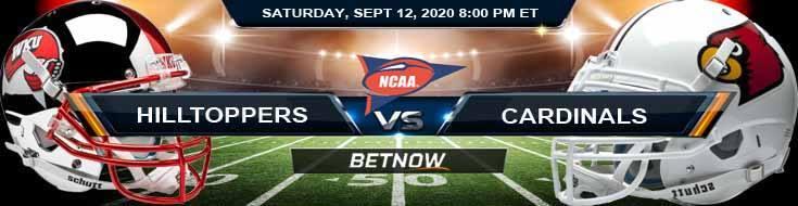 Western Kentucky Hilltoppers vs Louisville Cardinals 09-12-2020 NCAAF Odds, Picks & Tips