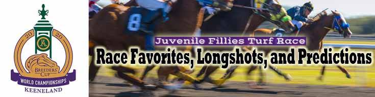 2020 Breeders' Cup Juvenile Fillies Turf Race Favorites, Longshots, and Predictions