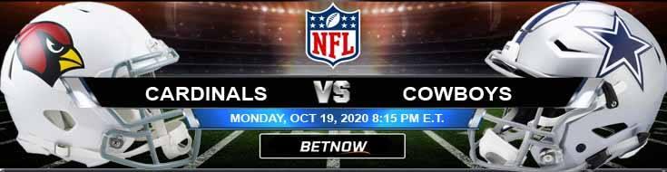 Arizona Cardinals vs Dallas Cowboys 10-19-2020 Predictions NFL Previews and Spread