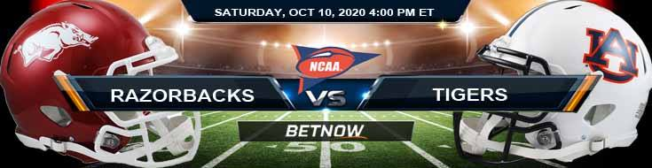 Arkansas Razorbacks vs Auburn Tigers 10-10-2020 Odds NCAAF Picks and Predictions