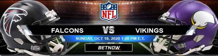 Atlanta Falcons vs Minnesota Vikings 10-18-2020 Picks NFL Predictions and Previews