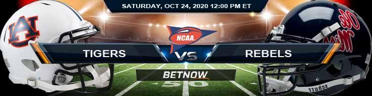Auburn Tigers vs Ole Miss Rebels 10-24-2020 NCAAF Picks Previews & Analysis