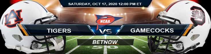 Auburn Tigers vs South Carolina Gamecocks 10-17-2020 NCAAF Previews Tips & Results