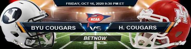 BYU Cougars vs Houston Cougars 10-16-2020 NCAAF Game Analysis Tips & Spread