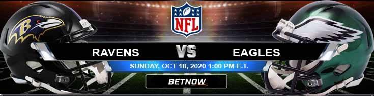 Baltimore Ravens vs Philadelphia Eagles 10-18-2020 Predictions NFL Previews and Spread