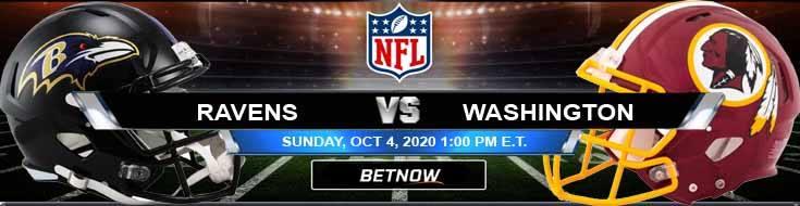 Baltimore Ravens vs Washington 10-04-2020 Picks Predictions and Previews