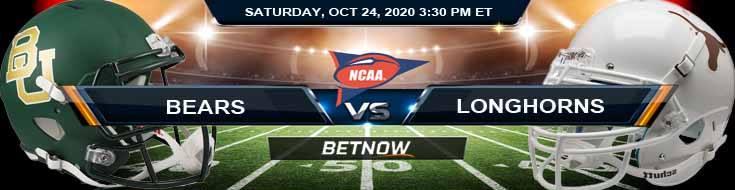 Baylor Bears vs Texas Longhorns 10-24-2020 NCAAF Tips Forecast & Analysis