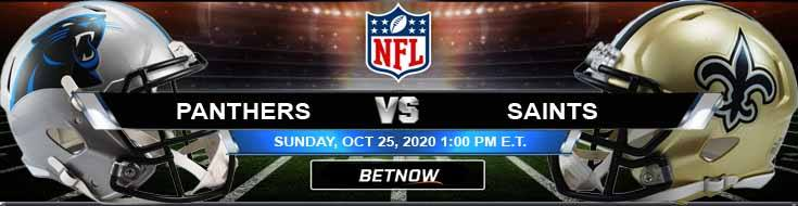 Carolina Panthers vs New Orleans Saints 10-25-2020 Predictions Previews and Spread