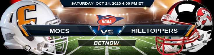 Chattanooga Mocs vs Western Kentucky Hilltoppers 10-24-2020 NCAAF Previews Picks & Spread