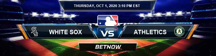 Chicago White Sox vs Oakland Athletics 10-01-2020 Previews Spread and Game Analysis