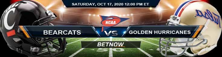 Cincinnati Bearcats vs Tulsa Golden Hurricane 10-17-2020 NCAAF Tips Predictions & Odds
