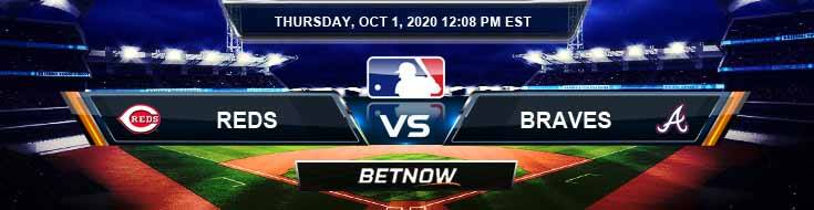 Cincinnati Reds vs Atlanta Braves 10-01-2020 Picks Predictions and Previews
