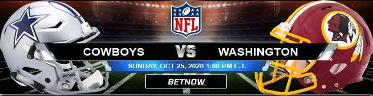 Dallas Cowboys vs Washington Football Team 10-25-2020 Spread Game Analysis and Tips