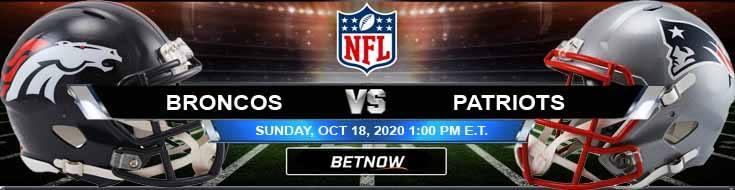 Denver Broncos vs New England Patriots 10-18-2020 Results Football Betting and Odds