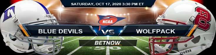 Duke Blue Devils vs NC State Wolfpack 10-17-2020 NCAAF Predictions Odds & Previews