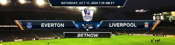 Everton vs Liverpool 10-17-2020 Odds Picks and Previews