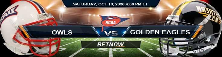 Florida Atlantic Owls vs Southern Miss Golden Eagles 10-10-2020 Picks NCAAF Predictions and Previews