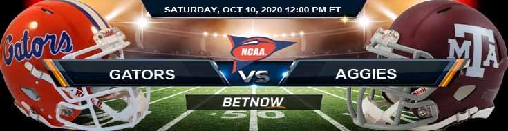 Florida Gators vs Texas A&M Aggies 10-10-2020 NCAAF Odds Picks & Predictions
