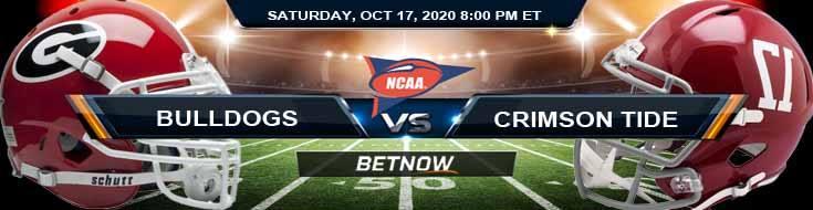 Georgia Bulldogs vs Alabama Crimson Tide 10-17-2020 NCAAF Tips Forecast & Analysis