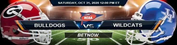 Georgia Bulldogs vs Kentucky Wildcats 10-31-2020 NCAAF Forecast Odds & Spread