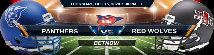 Georgia State Panthers vs Arkansas State Red Wolves 10-15-2020 NCAAF Picks Previews & Game Analysis