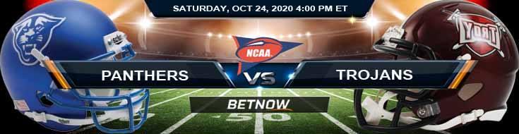 Georgia State Panthers vs Troy Trojans 10-24-2020 NCAAF Predictions Picks & Previews