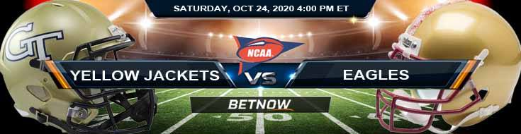 Georgia Tech Yellow Jackets vs Boston College Eagles 10-24-2020 NCAAF Previews Odds & Spread