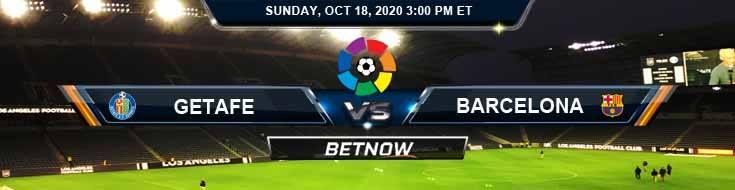 Getafe vs Barcelona 10-18-2020 Spread Game Analysis and Tips