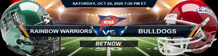 Hawaii Rainbow Warriors vs Fresno State Bulldogs 10-24-2020 NCAAF Tips Odds & Predictions